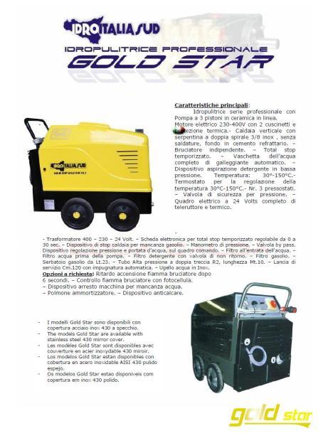 IDROPULITRICE GOLD STAR